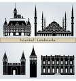 Istanbul landmarks and monuments vector image