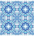 Mexican stylized talavera tiles seamless pattern vector image