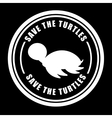 save the animals design vector image