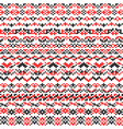 Seamless texture of red black patterns vector image