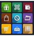 Shopping Flat Icons Set 35 vector image