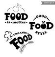 simple food llogos vector image