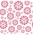 Round Shapes with Hearts vector image
