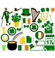 Saint Patrick s Day set vector image vector image