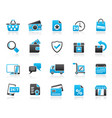 e-commerce and shop icons vector image vector image