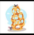 digital funny cartoon cheese vector image