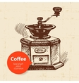 Hand drawn vintage coffee background vector image vector image