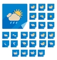 Trendy Flat Weather Icon Set With Long Shadow vector image