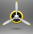 Vintage airplane propeller with radial engine vector image vector image