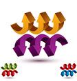 Arrows abstract symbol conceptual pictogram vector image vector image