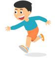 Cartoon boy running vector image