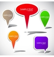 colorful bubble for speech website elements vector image vector image