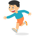 Cartoon boy running vector image