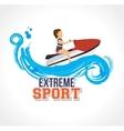 extreme sport jet ski label design vector image