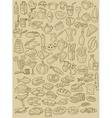hand drawn food vector image