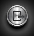 metallic icon vector image