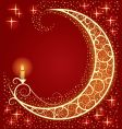 Moon and light vector image