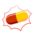 pill pharmacy isolated medicinal drugs on white vector image