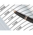 Notebook and ink pens vector image vector image
