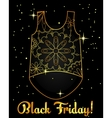 Black friday background golden on black with top vector image vector image