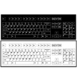 Black and white keyboard vector image vector image