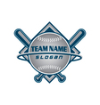baseball team logo vector image