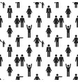 seamless pattern with people icons vector image