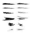Ink brush strokes set of paint spots hand drawn vector image