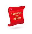 scroll with limited time offer vector image