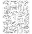 hand drawn bread vector image vector image