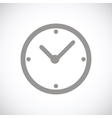 Clock black icon vector image