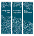 a set of banners a sea vector image