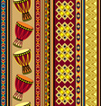african drum beckground vector image