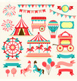 carnival elements vector image