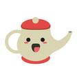porcelain tea jug cute kawaii cartoon vector image