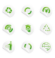 recycle stickers vector image