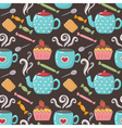 Tea sweet seamless pattern vector image