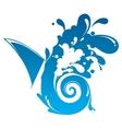 Waves Splashing vector image