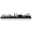 Newcastle city skyline silhouette vector image vector image