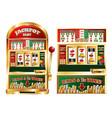 gambling slot machine composition vector image