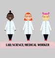woman scientist medical worker flat design vector image