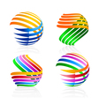 Colorful elements for the logo vector image vector image