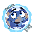 Funny Earth vector image
