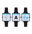 new generation smart watch concept vector image