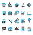different types of Addictions icons vector image vector image