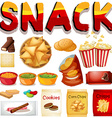 Different kind of snack vector image vector image