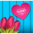 Heart shaped frame and text vector image vector image