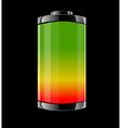 Battery on black background vector image