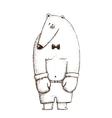 Bear Boxer Hand Drawn Cartoon vector image