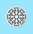 beautiful snowflake icon isolated christmas vector image
